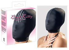 Kopfmaske Total geschlossene, elastische Kopfmaske Schwarz Neu/Ovp