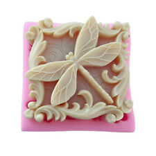 DIY Dragonfly Soap Mold Flexible Silicone Mould For Cake Candy Chocolate Baking