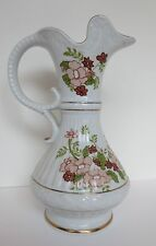 Rare Vintage Chodziez Floral Pitcher Made in Poland - Original Tag Attached