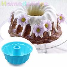 Round Silicone Mold Large Bundt Savarin Cake Muffin Chocolate Baking Pan Mould