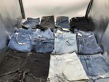 Bulk Clothing Lot: 15 Shorts Female Various Vintage Denim Size Small