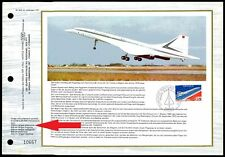 FRANCE CEF 1976 AVIATION CONCORDE 1. FLIGHT GERMAN LANGUAGE ONLY 700 MADE! ze29
