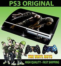 Playstation Ps3 Original Mortal Kombat X Scorpion Skin & 2 Pad Skins