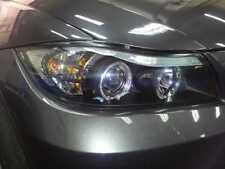 FARI BMW SERIE 3  E90 E91 ANGEL EYES  LED CON CIGLIO SUPERIORE CROMO O NERI