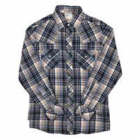 Vintage Kennington Rocking Ranchwear Western Shirt Size Large Pearl Snap Plaid
