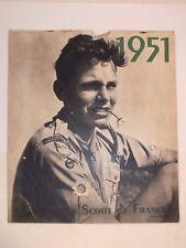 Rare Calendrier des Scouts de France 1951