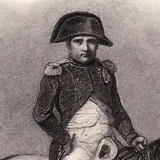 Gravure XIXe Napoléon Bonaparte Premier Empire Cheval Blanc Horace Vernet 1840