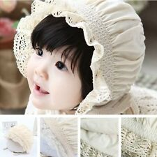 Beige Summer Sun Bonnets Hats For Newborn Unisex Baby Kids