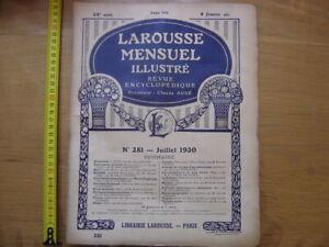 1930 LAROUSSE MENSUEL ILLUSTRE Revue Encyclopedique 281 SOMMAIRE en photo