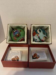 Pier 1 imports Li Bien Hibou chirstmas ornaments