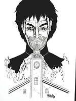 TIM VIGIL ORIGINAL ART SIGNED SKETCH PREACHER # 1 JESSE CUSTER.