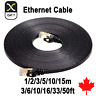 CAT 7 Flat Ethernet RJ45 10Gbps Ultra-Thin LAN Network Patch Cable Lead PC Mac