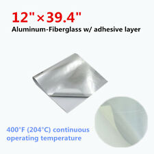 "Heat Shield Barrier Aluminum-Fiberglass w/ adhesive layer- Professional 12""x39''"