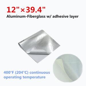 "Heat Shield Barrier Aluminum-Fiberglass w/ adhesive layer- Professional 12""x39''"