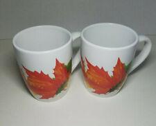 Royal Norfolk Fall Leaves Mugs 12 oz (Set of 2)