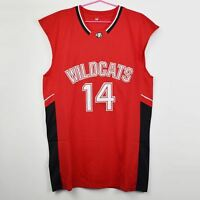 Zac Efron #14 Troy Bolton East High School Wildcats Red Basketball Jersey