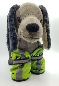 Top Paw Green Reflective Dog Booties XL Boot Set of 4 Nylon boots