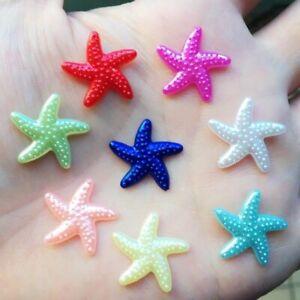 18mm Plastic Starfish Imitation Pearl Flatback Scrapbooking Craft DIY Decoration