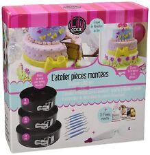 Coffret Moule à gateau Cake Designer, Métal 18 cm, 20 cm et 24 cm Lily Cook