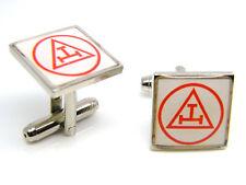 Masonic Royal Arch Triple Tau Regalia Cufflinks Mens Gents Badge in Gift Pouch