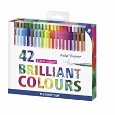 Assorted 42 Colors 0.3mm Staedtler Color Pen Set Triplus Fineliner Pens Card Box