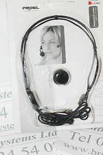 Proel HCM38SE Headset microphone with threaded jack plug for Sennheiser-Trantec