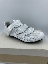 NIB Giro Solara Cycling Shoes - White Leather Womens EU 39 US 7-7.5