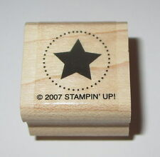 "Star Circle Rubber Stamp Stampin' Up! Western Mini Celestial 1"" Wood Mounted EUC"