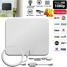 200 Mile HDTV Indoor Antenna Aerial HD Digital TV Signal Amplifier Booster Cable
