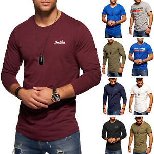 Jack & Jones Herren T-Shirts Langarmshirts Basic Logo Print Shirt Mix SALE %