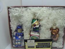 1999 CHILDHOOD TREASURES, 3 ORNAMENTS,  BLOWN GLASS, HALLMARK KEEPSAKE ORNAMENT