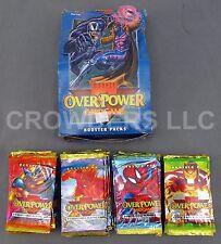Marvel Over Power Card Game Complete Booster Box 36 Unopened 9 Card Packs Fleer