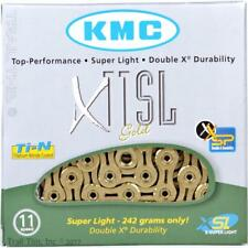 KMC X11SL Gold 11-Speed Road / CX Bike Chain Ti-N 116L fits Campy SRAM Shimano