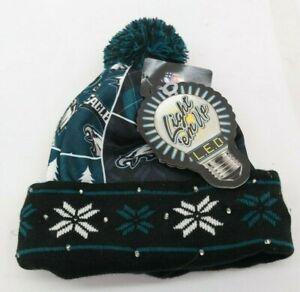 Philadelphia Eagles NFL Light up Hat Winter Cuffed Pom Beanie  TF