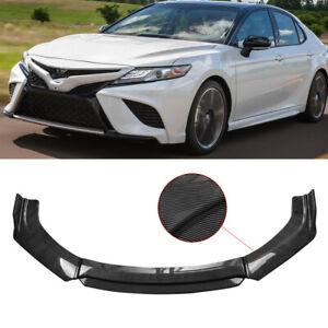 Carbon Fiber Front Bumper Lip Body Kit Spoiler Splitter For Toyota Corolla Camry