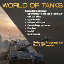 World of Tanks Referral Program 2.0 ⭐ Recruit WOT NA EU RU satisfaction 100%