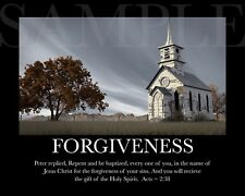 FORGIVENESS Inspirational Picture (8X10) New Fine Art Print Photo Bible Jesus