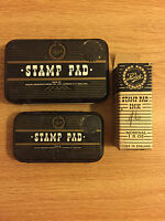 Vintage Large and Small Kolok Stamp Pads With Stamp Pad Ink.