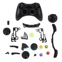 Wireless Controller Full Case Shell Cover Housing+ Buttons for XBox 360 Black