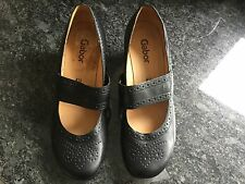 Gabor Ladies Black Heeled Mary Jane Shoes Size 4 1/2 Excellent Condition.