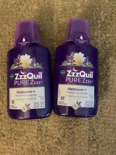 2 x NEW NIP Vicks ZzzQuil Pure Zzzs Melatonin Fast Acting Liquid Sleep Aid 8 Oz