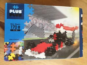 PLUS PLUS Building Blocks, 170 Pieces, Racing Car, Complete with Instructions