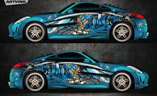 Car Side Full Color Vinyl Sticker Custom Body Decal Samurai Ninja Racing Drift