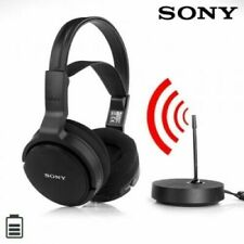 Sony MDR-RF811 RF Frequency Wireless Over Ear Stereo Headphones for TV Music New