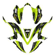 KFX 450R graphics custom decal kit for Kawasaki Quad #3333 Neon Green