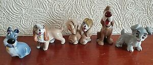 Five Vintage  Disney Lady and the Tramp Wade figures
