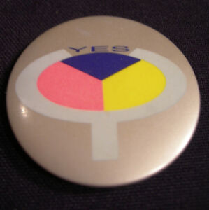 YES CONCERT TOUR BUTTON BADGE 1984 90125