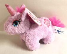 """UNICORN PURPLE PINK 5"""" MINI PLUSH Toy Stuffed Animal Toy Hug Fun New"""