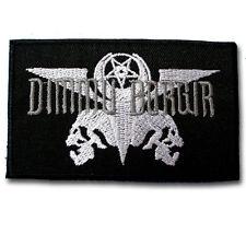 Dimmu Borgir Patch Iron on Biker Rock Band Logo Heavy Black Metal Music Sew Easy