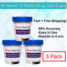 12 Panel At Home Instant Urine Drug Test Cup -Home Drug Test Kit- Free Shipping!